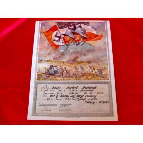 Enlistment Document # 2911