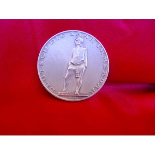 Hitler Saar Medallion # 3931