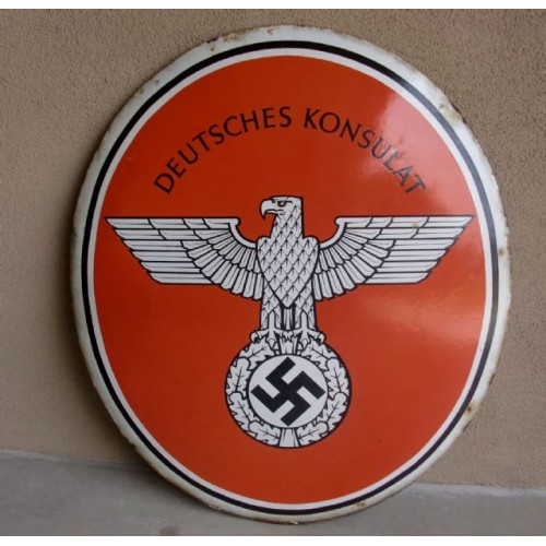 Deutsche Konsulat Sign  # 2937