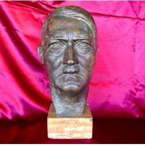 Adolf Hitler Bronze Bust # 3007