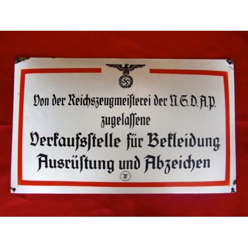 RZM Enamel Sign # 3026