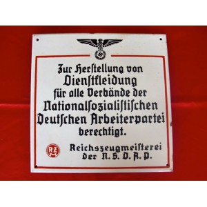 RZM Enamel Sign # 3027