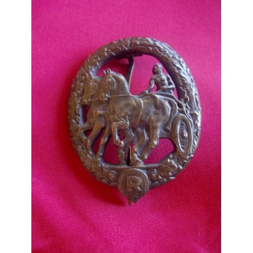 Deutsches ReiterAbzeichen in Bronze # 3079