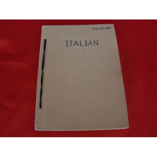 Handbook on the Italian Military Forces. # 3261