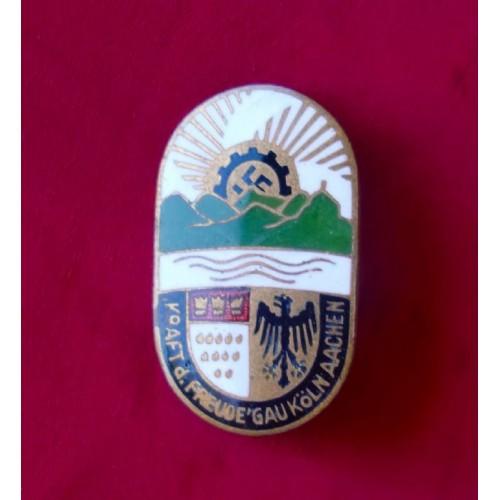 KdF Köln-Aachen Badge # 3341