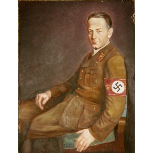 Original Portrait of Siegfried Uiberreither # 3403