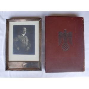 Adolf Hitler Formal Frame Staatsrahmen # 3459