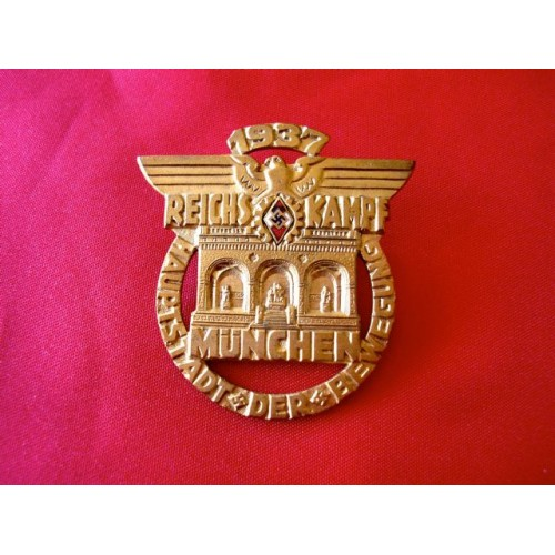 1937 Munich Reichskampf Badge # 3468