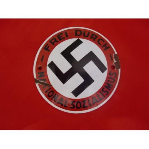 NSDAP Enamel Frei Durch-National-Sozialismus # 3476