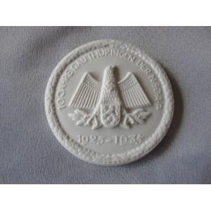 10 Jahre Gau Thüringen Der NSDAP 1925-1935 Plaque/Pin # 3548