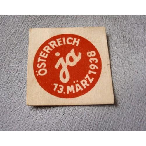 Österreich Ja 13. März 1938 # 3634