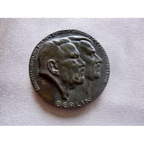 Hindenburg Hitler Cast Bronze Medallion  # 3676