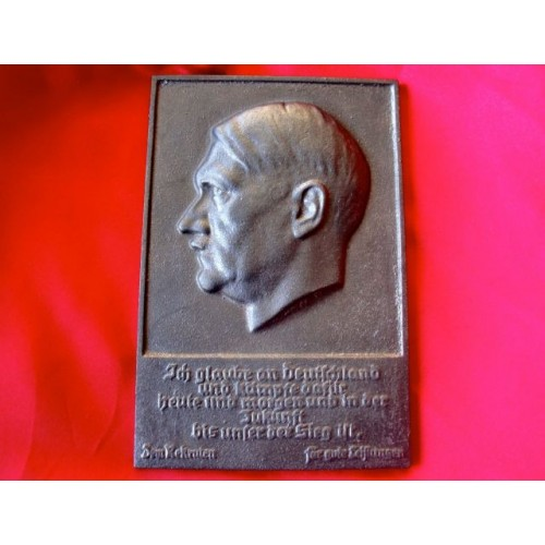 Adolf Hitler Plaque   # 3725