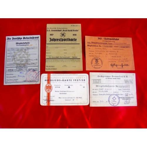 5 Membership Cards # 3734