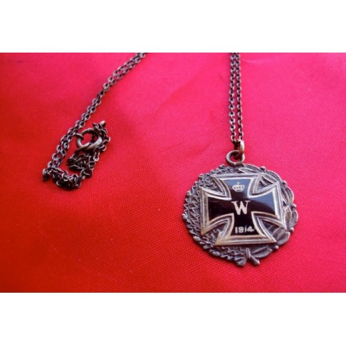 WWI IC Ribbon Miniature Necklace  # 3813