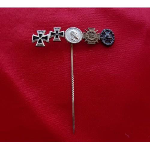 5 Medal Stickpin # 3825
