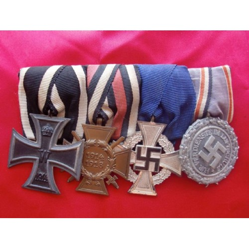 4 Medal Ribbon Bar # 3832