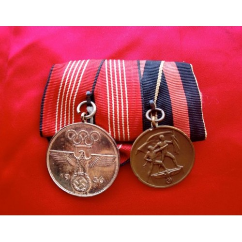 2 Medal Ribbon Bar  # 3834