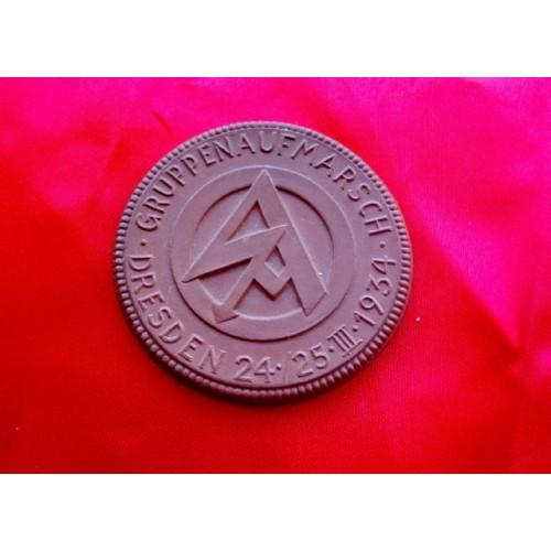 SA Gruppenmarsch Dresden Medallion # 3843