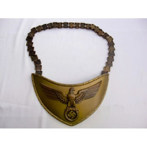 NSDAP Political Leader Flag Bearer's Gorget   # 3898
