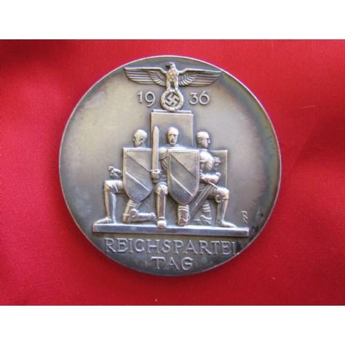 1936 Reichsparteitag Medallion # 3936