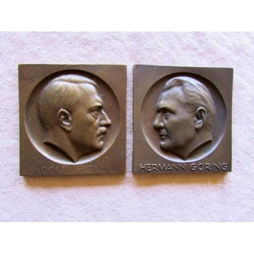 Hitler Goring Plaques # 3939