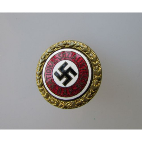 Golden Party Badge 24mm   # 3957