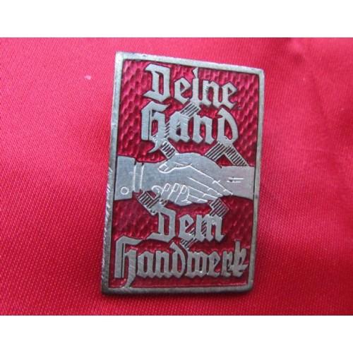 Deine Hand dem Handwerk Pin   # 3974