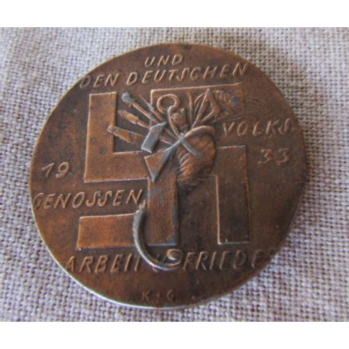 Karl Goetz Employment Program Medallion # 4005