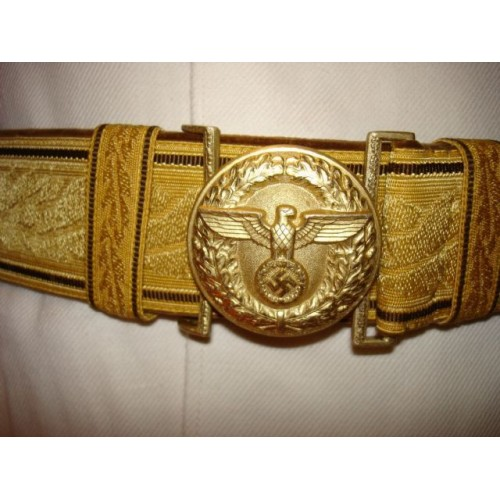 NSDAP Brocade belt and buckle # 401