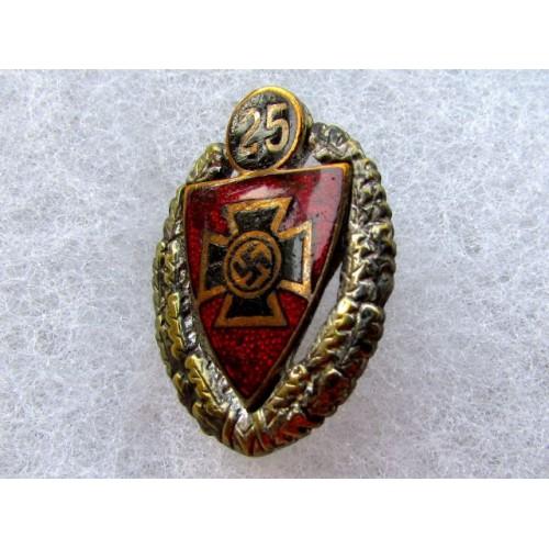 Reichskriegerbund 25 Year Pin  # 4036