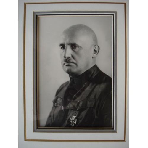 Julius Streicher Autographed Portrait # 406
