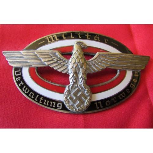 Militar Verwaltung Norwegen Badge  # 4070