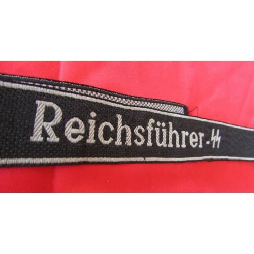 Reichsfuhrer SS Cuff Title # 4093