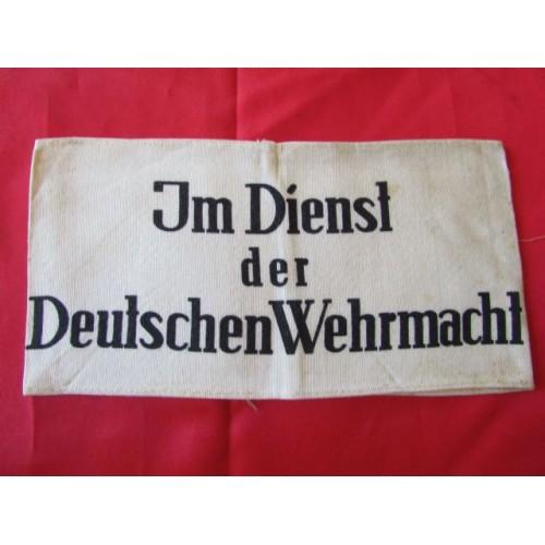 Im Dienst der Deutschen Wehrmacht Armband # 4137