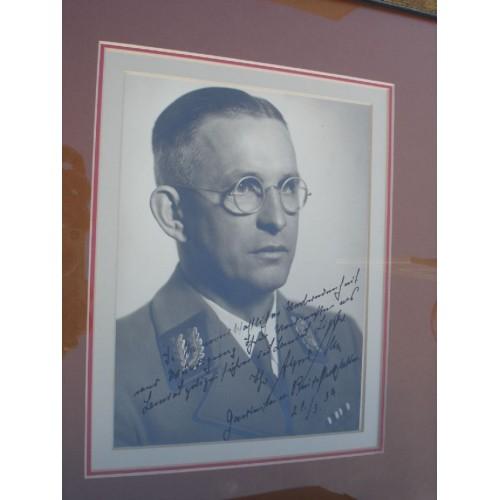 Dr Alfred Meyer Autographed Portrait # 447