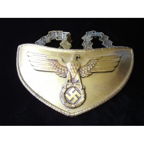 NSDAP Political Leader Flag Bearer's Gorget # 485