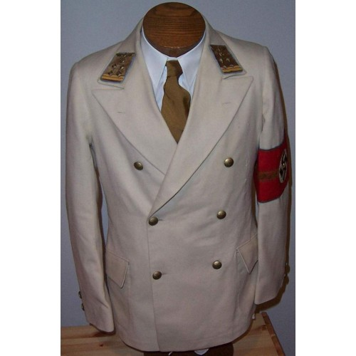 Ortsgruppenleiter White Double Breasted Tunic # 500
