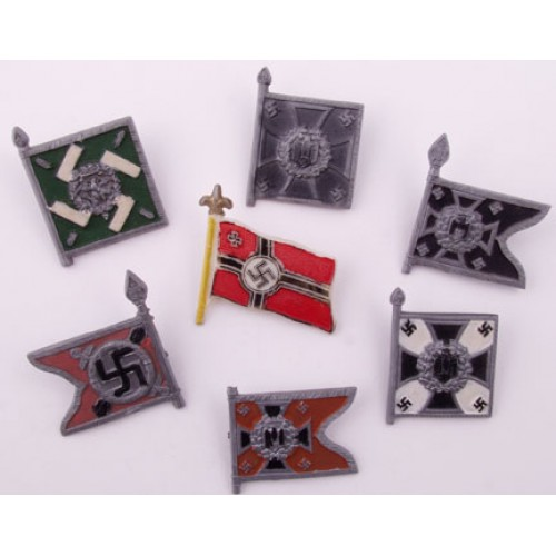 WHW War Relief Flag Badges # 542