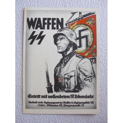 Waffen SS postcard # 649