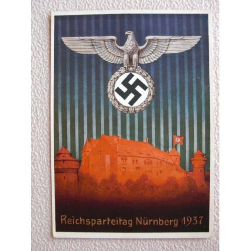 Reichsparteitage postcard
