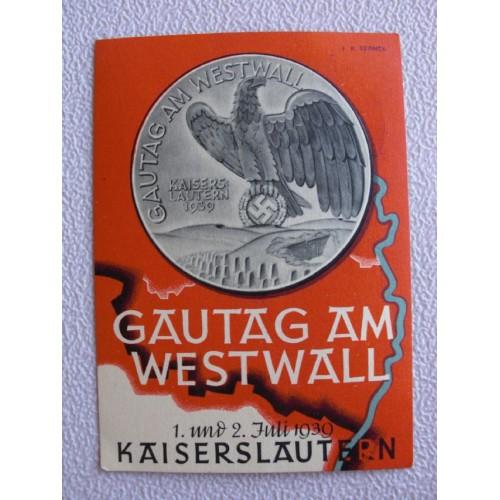 Gautag am Westwall postcard # 669