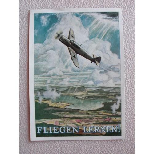 Fliegen Lernen postcard # 674