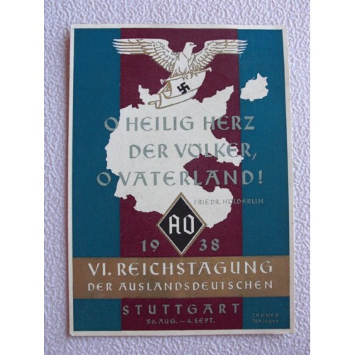 Auslandsdeutschen postcard
