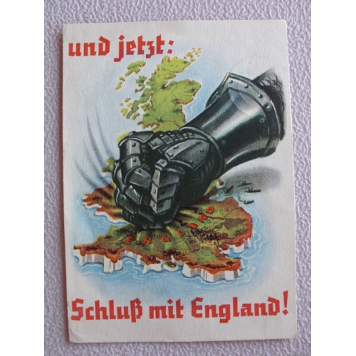 Finish with England postcard # 677