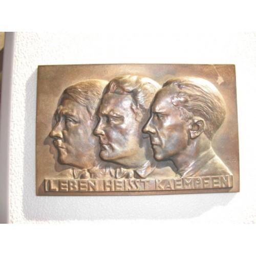Hitler, Goering, Goebbels Plaque # 738