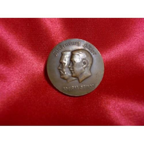 Hindenburg Hitler Medal # 746