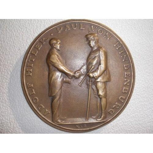 Karl Goetz Hitler Medallion # 760