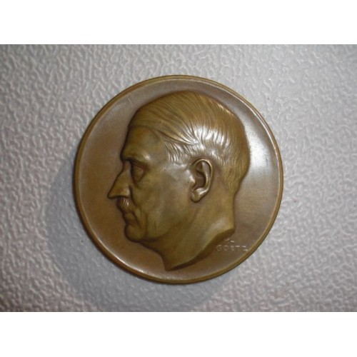 Karl Goetz Hitler Medallion # 761