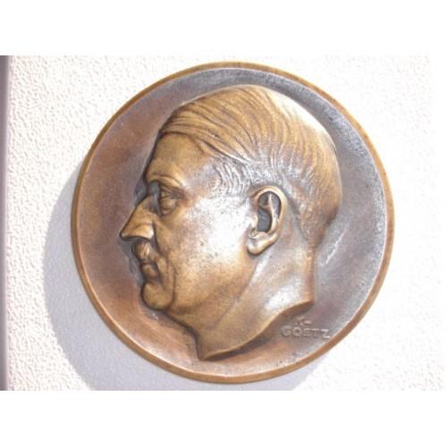 Karl Goetz Hitler Medallion # 762
